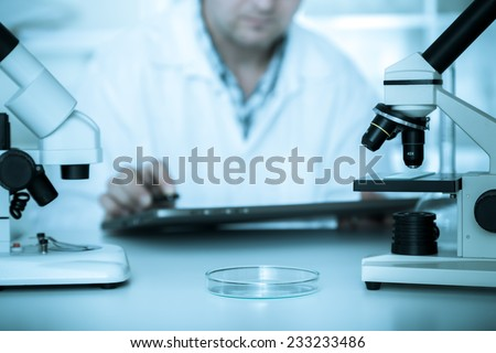 scientist working in the lab. - stock photo