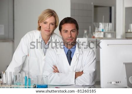 Scientists - stock photo