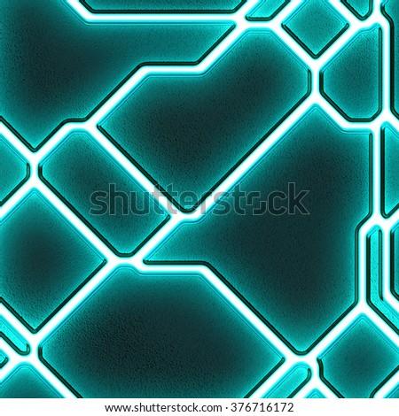 SciFi Light Wall - stock photo