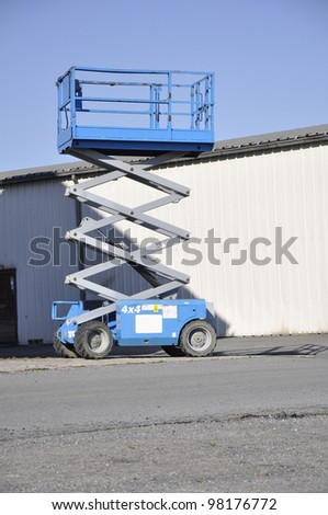 scissor lift - stock photo