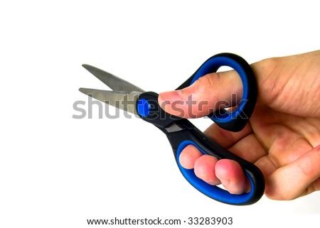 scissors isolated - stock photo