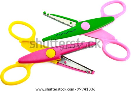 Scissors isolated on white background - stock photo
