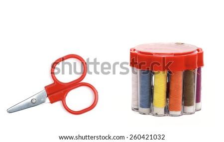 scissors on the white background  - stock photo
