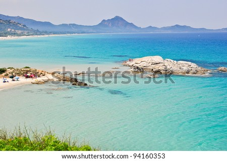 Scoglio di Peppino, Sardinia, in Italy - stock photo