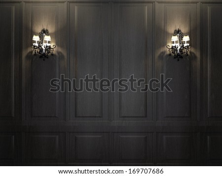 sconces on wall - stock photo