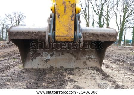 scoop of an excavator - stock photo