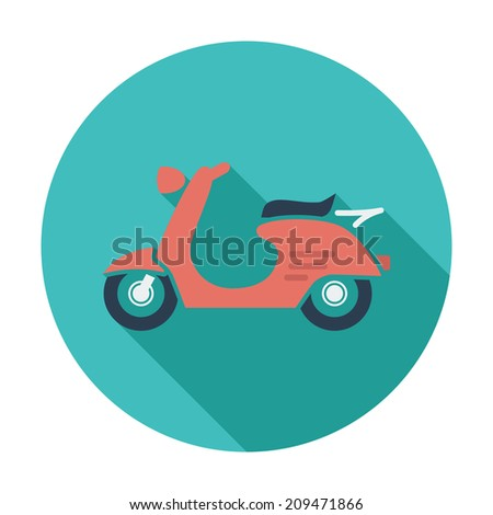Scooter. Single flat color icon.  - stock photo