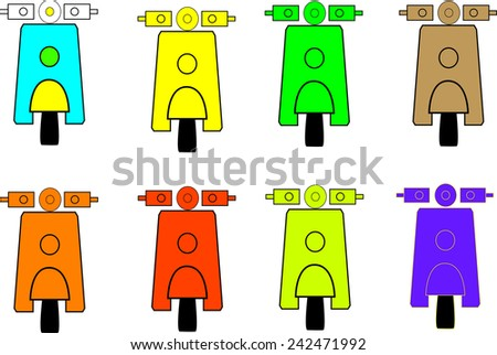 Scooter  Single flat icon - stock photo