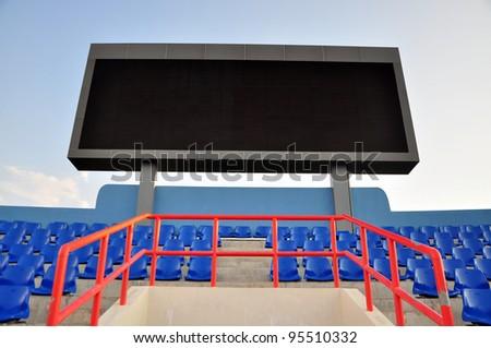 score board on stadium - stock photo