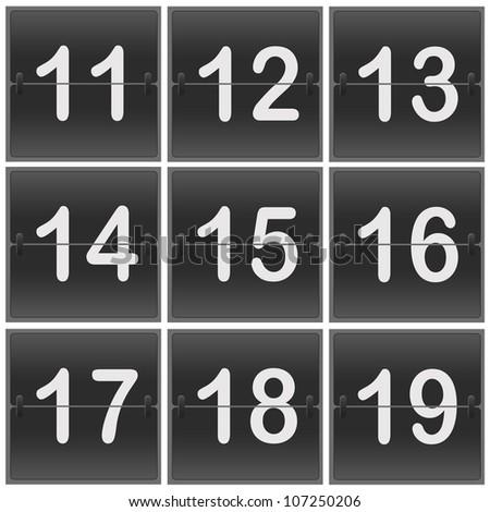 Scoreboard Numbers flipper - stock photo