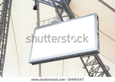 Scoreboard on stadium - stock photo