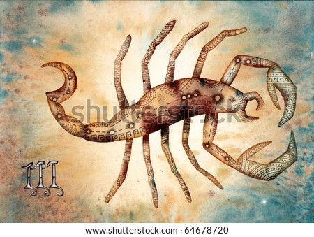 Scorpio. Logo-like Zodiac Star Signs