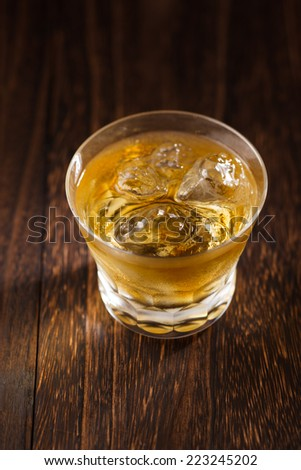 Scotch on the wooden background