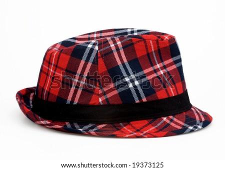 scotch pattern felt hat - stock photo
