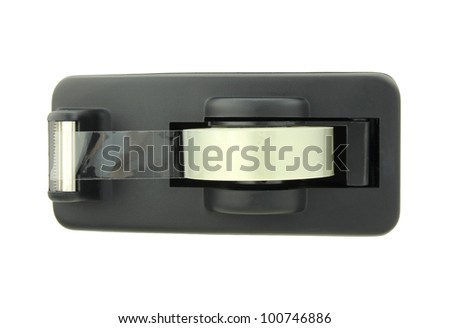 scotch tape isolated - stock photo
