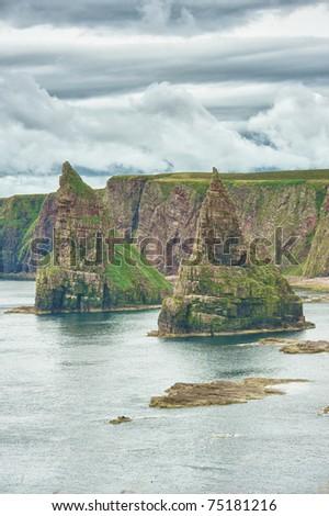 scotland coast , hdr - stock photo