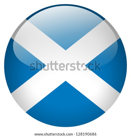Scotland flag button - stock photo