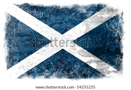 Scotland grunge flag - stock photo