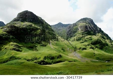 Scotland Mountains - stock photo