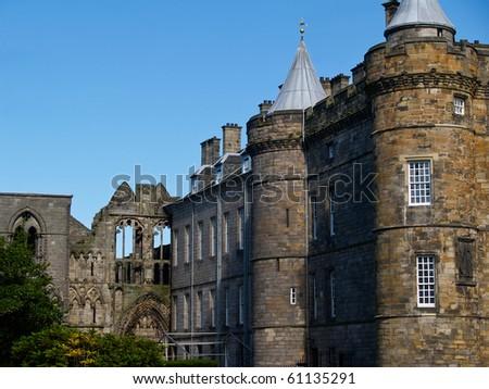 Scottish castle, Holyrood House. - stock photo