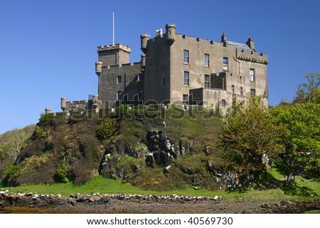 Scottish castle on Skye - stock photo