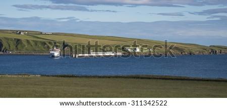 Scottish coast - stock photo
