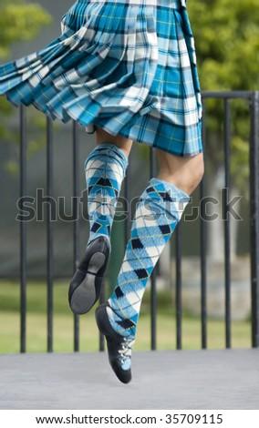Scottish Dancer - stock photo