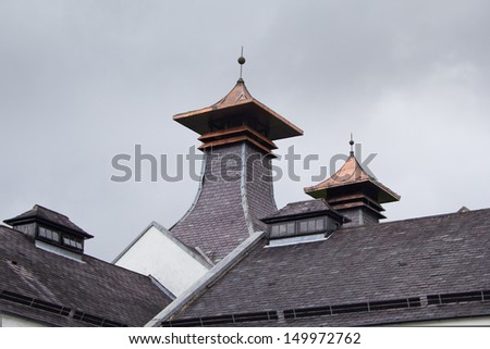 Scottish distillery roof pagoda