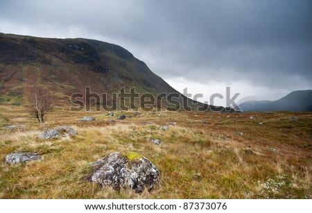 Scottish Glen next to Fort William, Scotland - stock photo