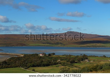 scottish landscape with water