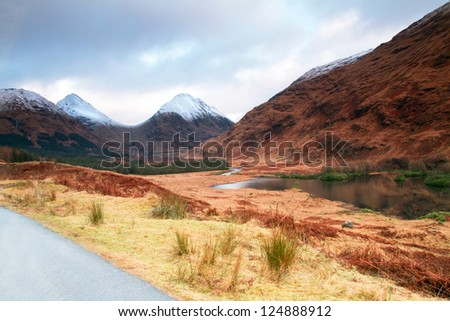 Scottish Mountains - stock photo