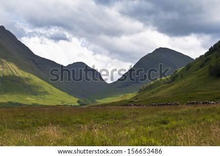 Scottish mountains - stock photo
