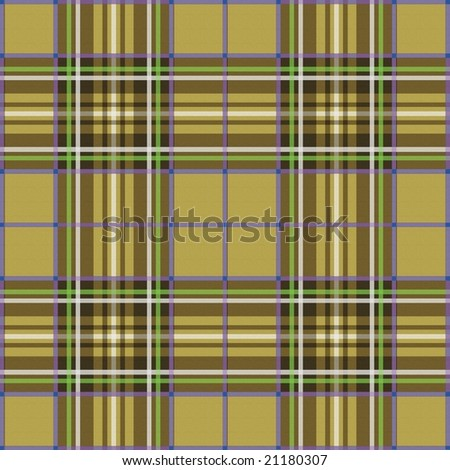 Scottish plaid - beige background