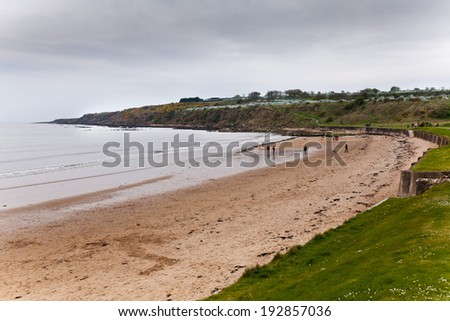 Scottish seaside landscape at St Andrews - stock photo
