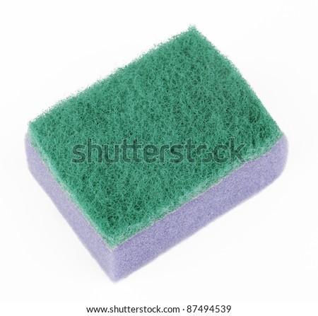 Scourer Sponge Cutout - stock photo