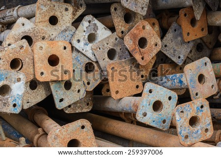 Scrap left over from the building construction waiting for dispose - stock photo