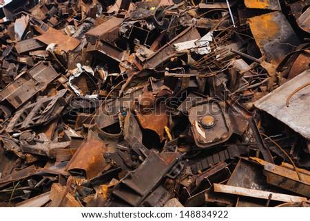 scrap metal heap - stock photo