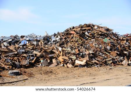 Scrap Metal Pile - stock photo