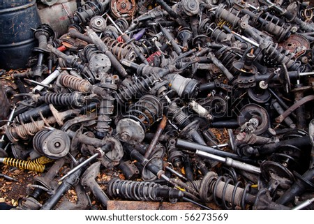Scrap metal waste. - stock photo
