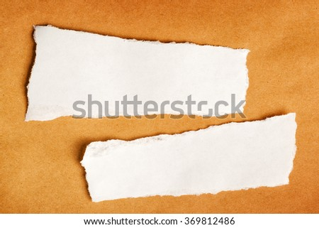 Scrap paper as copy space, top view