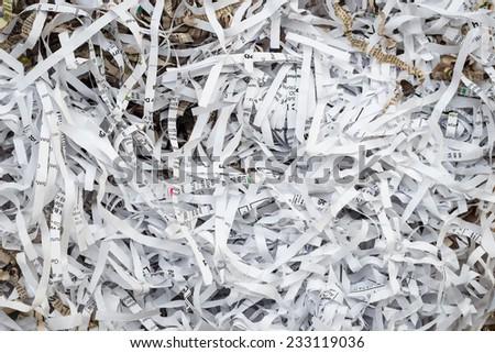 Scrap Paper from paper cutter - stock photo