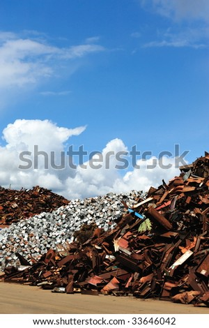 Scrap yard in Amsterdam The Netherlands - stock photo