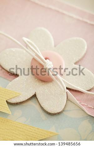 scrapbook greeting card details - stock photo