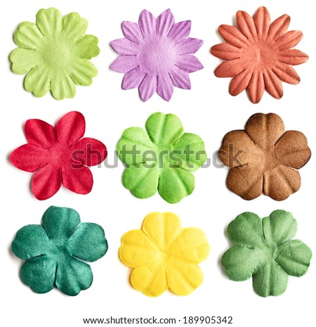 Scrapbooking elements. Paper flower collection. - stock photo