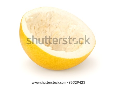 scraped citrus fruit - stock photo