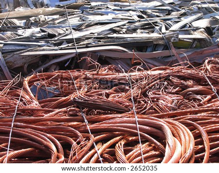 scrapyard background - stock photo