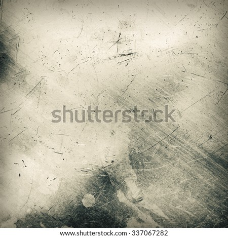 Scratched and spotted a metal sheet. Toned image - stock photo