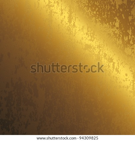 scratched gold metal surface as background to insert text or design