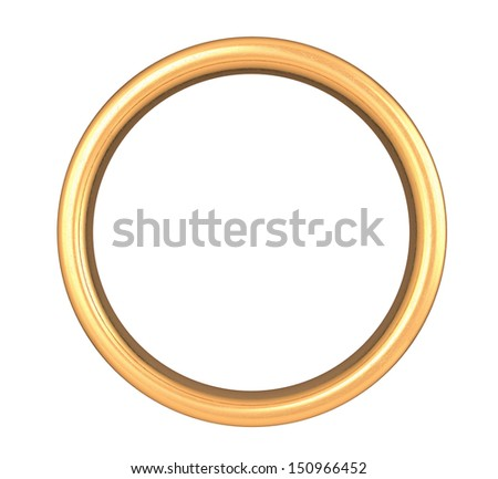 Scratched Golden Ring , Clipping Path