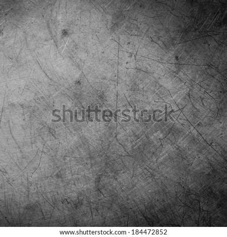 scratched grunge metal plate industrial ; abstract background - stock photo